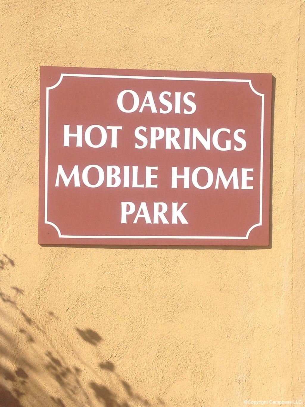 Oasis Hot Springs Mobile Home And RV Park Desert California
