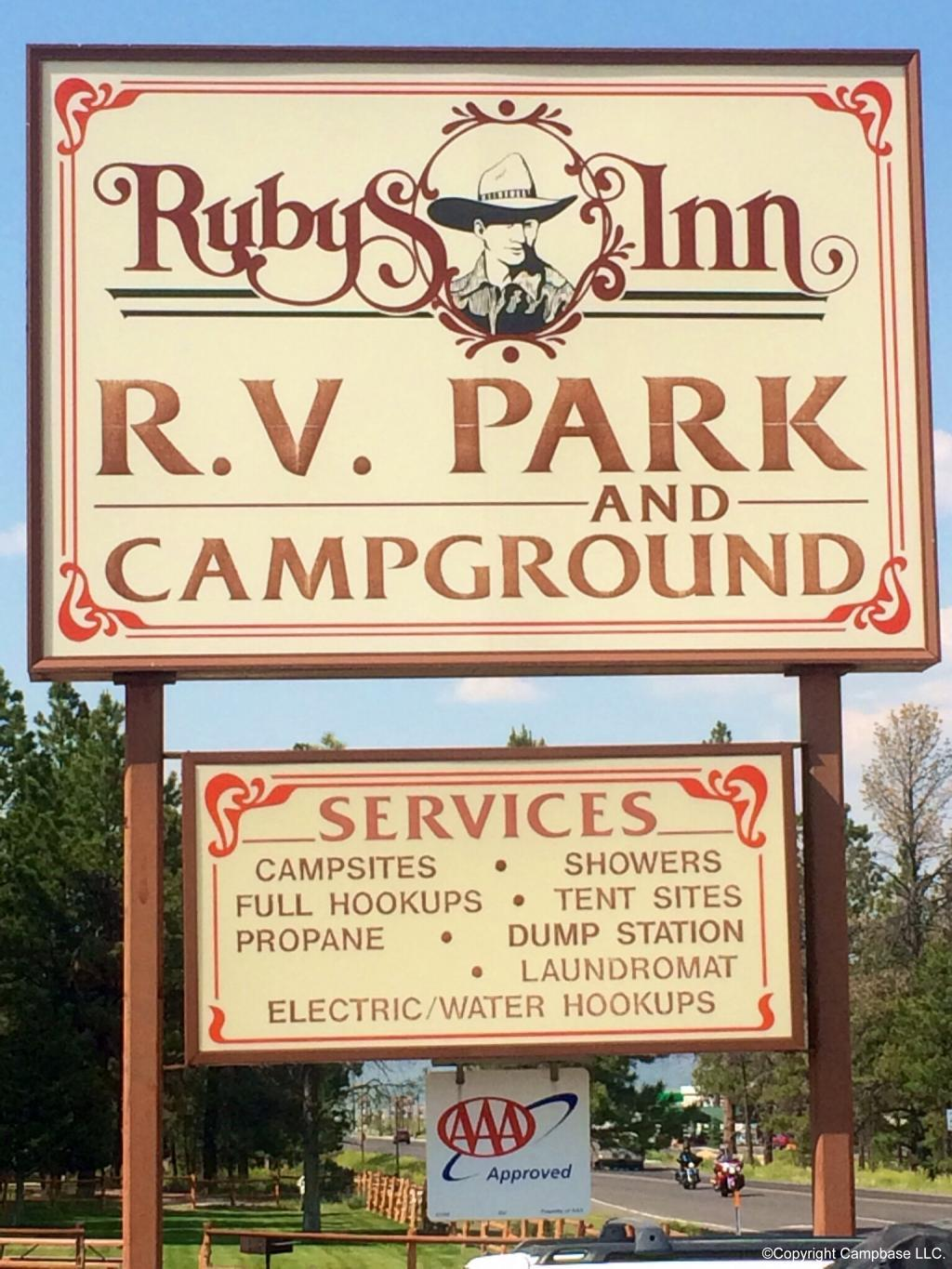 Rubys Inn Rv Park And Campground Bryce Canyon Utah