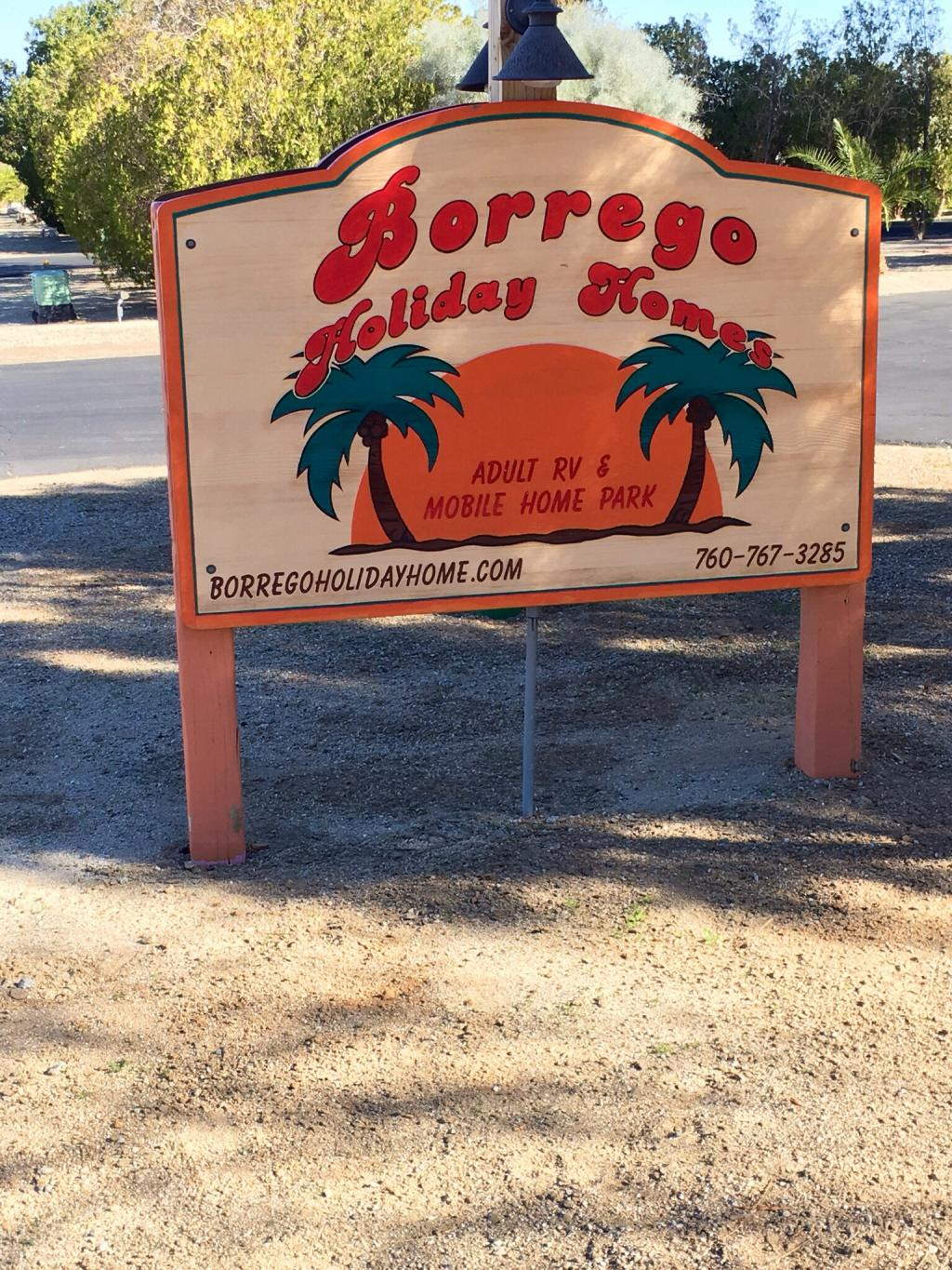 Borrego Holiday Homes RV Resort Springs California