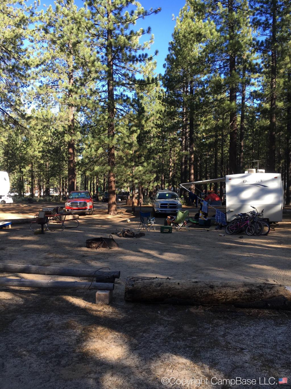 Campground By The Lake South Lake Tahoe California