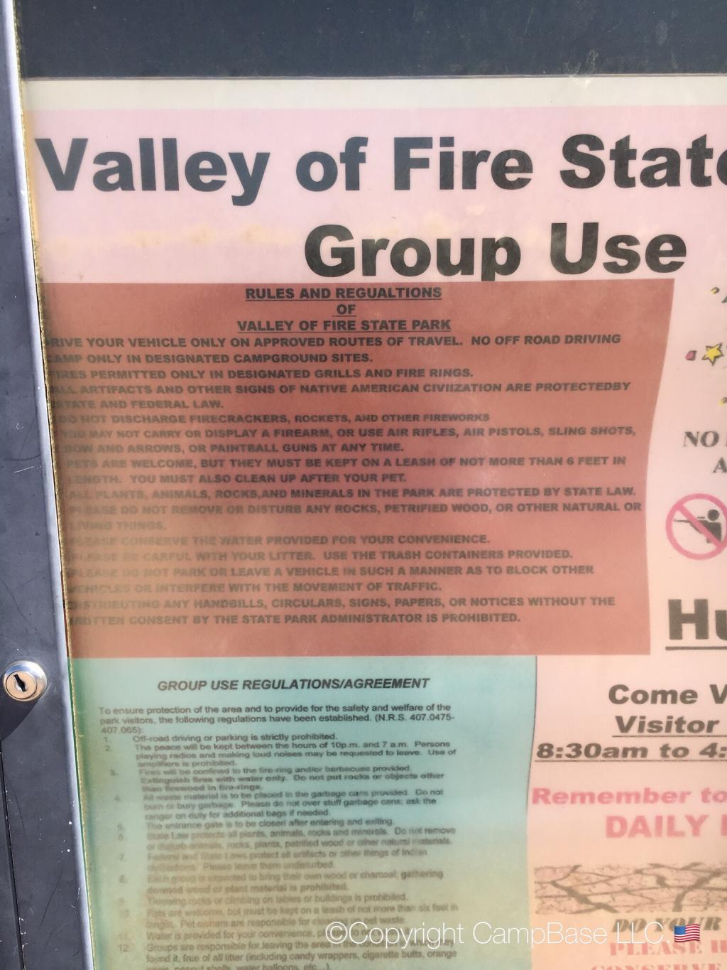 Valley Of Fire State Park Group Campground Overton Nevada