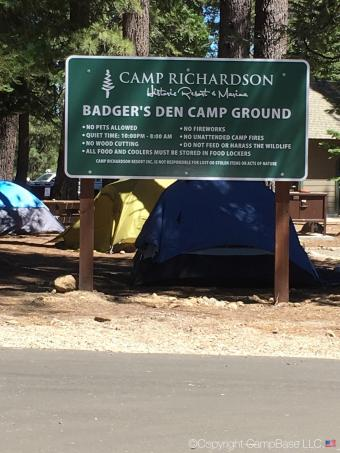 Badgers Den Campground , South Lake Tahoe, California on