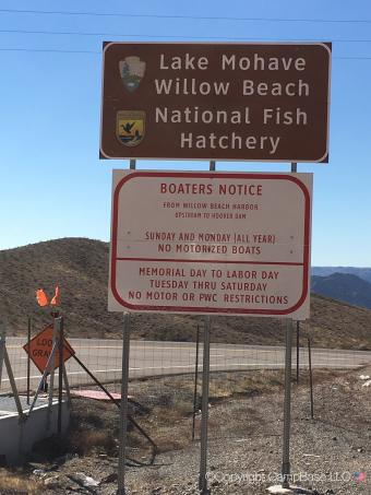 Willow beach campground and rv park willow beach arizona for Willow beach fishing