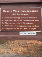 Desert View Campground Grand Canyon NP