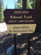 Aspen Hollow Group Campground / Sequoia NP