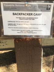 Backpackers Camp Yosemite NP